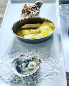 Albarino Oyster, Asparagus & Pulled Pork